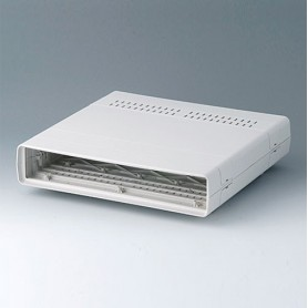 A0214170 / EURO CASE 42 TE, sin asa - ABS (UL 94 HB) - off-white RAL 9002 - 260x250x54mm