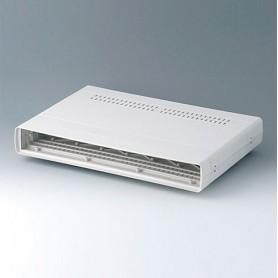 A0216170 / EURO CASE 63 TE, sin asa - ABS (UL 94 HB) - off-white RAL 9002 - 367x250x54mm