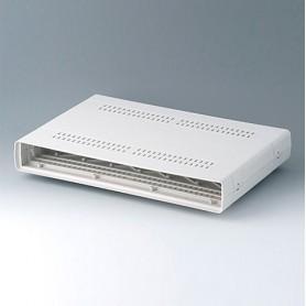 A0216270 / EURO CASE 63 TE, sin asa - ABS (UL 94 HB) - off-white RAL 9002 - 367x250x54mm
