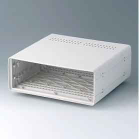 A0224170 / EURO CASE 42 TE, sin asa - ABS (UL 94 HB) - off-white RAL 9002 - 260x250x98,5mm