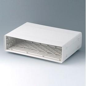 A0226070 / EURO CASE 63 TE, sin asa - ABS (UL 94 HB) - off-white RAL 9002 - 367x250x98,5mm