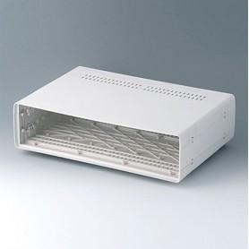 A0226170 / EURO CASE 63 TE, sin asa - ABS (UL 94 HB) - off-white RAL 9002 - 367x250x98,5mm