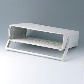A0226470 / EURO CASE 63 TE, con asa - ABS (UL 94 HB) - off-white RAL 9002 - 367x250x98,5mm