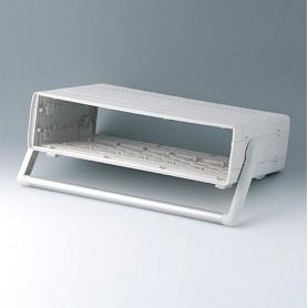 A0226570 / EURO CASE 63 TE, con asa - ABS (UL 94 HB) - off-white RAL 9002 - 367x250x98,5mm