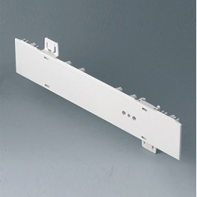 A0111270 / Panel lateral 1 HE, para montaje de asa - ABS (UL 94 HB) - off-white RAL 9002 - 250x44,45mm