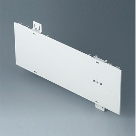 A0121270 / Panel lateral 2 HE, para montaje de asa - ABS (UL 94 HB) - off-white RAL 9002 - 250x88,9mm