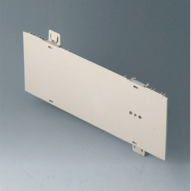 A0121280 / Panel lateral 2 HE, para montaje de asa - ABS (UL 94 HB) - pebble grey RAL 7032 - 250x88,9mm