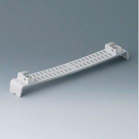 A0144370 / Panel a presión, con ranuras, con patas - ABS (UL 94 HB) - off-white RAL 9002