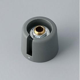 """A3020068 / COM-KNOBS 20 - Con orificio para elemento de marcaje """"Dial"""" 20x16mm - PA 6 - volcano - Orificio de eje 6 mm"""