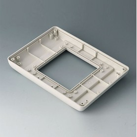 B4042707 / INTERFACE-TERMINAL Parte inferior S plano, Vers.I - ABS (UL 94 HB) - off-white RAL 9002 - 190x135x24,5mm - IP 54 opt.