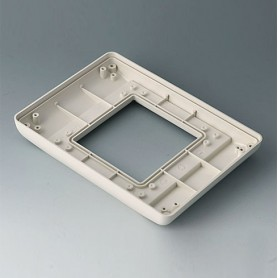 B4042717 / INTERFACE-TERMINAL Parte inferior S plano,Vers.II - ABS (UL 94 HB) - off-white RAL 9002 - 190x135x24,5mm - IP 54 opt.