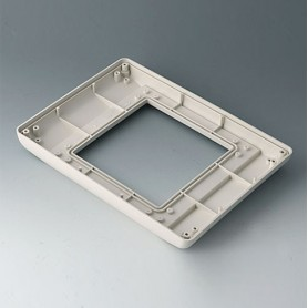 B4044707 / INTERFACE-TERMINAL Parte inferior M plano, Vers.I - ABS (UL 94 HB) - off-white RAL 9002 - 225x165x25,5mm - IP 54 opt.