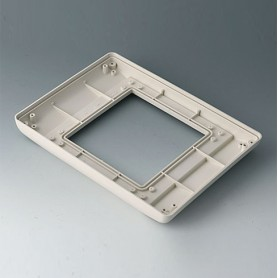 B4044717 / INTERFACE-TERMINAL Parte inferior M plano,Vers.II - ABS (UL 94 HB) - off-white RAL 9002 - 225x165x25,5mm - IP 54 opt.