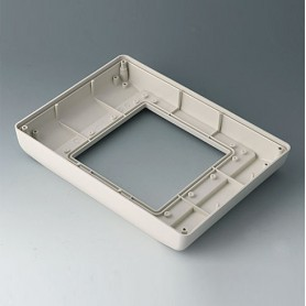 B4044757 / INTERFACE-TERMINAL Parte inferior M alto, Vers.I - ABS (UL 94 HB) - off-white RAL 9002 - 225x165x35,5mm - IP 54 opt.