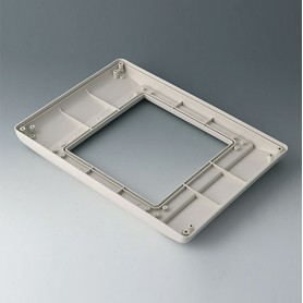 B4046707 / INTERFACE-TERMINAL Parte inferior L plano, Vers.I - ABS (UL 94 HB) - off-white RAL 9002 - 275x195x26,5mm - IP 54 opt.