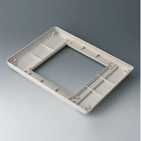 B4046717 / INTERFACE-TERMINAL Parte inferior L plano,Vers.II - ABS (UL 94 HB) - off-white RAL 9002 - 275x195x26,5mm - IP 54 opt.