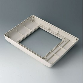 B4046757 / INTERFACE-TERMINAL Parte inferior L alto, Vers.I - ABS (UL 94 HB) - off-white RAL 9002 - 275x195x36,5mm - IP 54 opt.