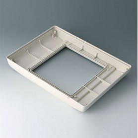 B4046767 / INTERFACE-TERMINAL Parte inferior L alto,Vers.II - ABS (UL 94 HB) - off-white RAL 9002 - 275x195x36,5mm - IP 54 opt.