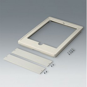 B4046427 / Cubierta L, for iPad Air - ABS (UL 94 HB) - off-white RAL 9002 - 275x195x25,5mm