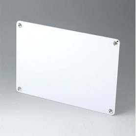 B4142106 / Panel frontal S - Aluminio - matt anodised - 186,5x131,5x2mm