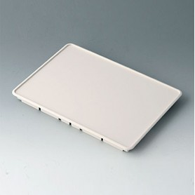 B4142107 / Panel frontal S - ABS (UL 94 HB) - off-white RAL 9002 - 190,6x135,6x14,5mm