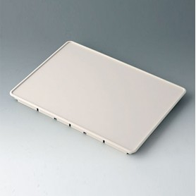 B4144107 / Panel frontal M - ABS (UL 94 HB) - off-white RAL 9002 - 225,6x165,6x15,5mm