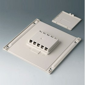 B4146047 / Compartimento de batería y tapa L, 5 x AA - ABS (UL 94 HB) - off-white RAL 9002