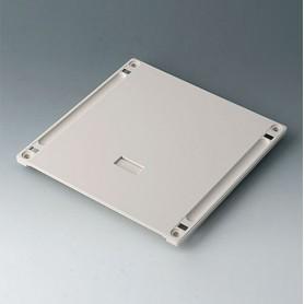 B4146167 / Panel inferior con hueco para el asa L - ABS (UL 94 HB) - off-white RAL 9002