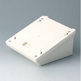 B4042837 / Base S - estación de carga, caja de depósito móvil - ABS (UL 94 HB) - off-white RAL 9002 - 123x123x60mm