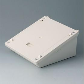 B4044837 / Base M - estación de carga, caja de depósito móvil - ABS (UL 94 HB) - off-white RAL 9002 - 153x153x70mm