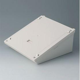 B4046837 / Base L - estación de carga, caja de depósito móvil - ABS (UL 94 HB) - off-white RAL 9002 - 183x183x80mm