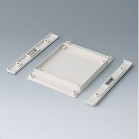 B4142257 / Panel inferior con tiras a presión S - ABS (UL 94 HB) - off-white RAL 9002