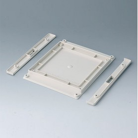 B4144257 / Panel inferior con tiras a presión M - ABS (UL 94 HB) - off-white RAL 9002