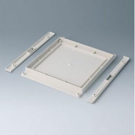 B4146257 / Panel inferior con tiras a presión L - ABS (UL 94 HB) - off-white RAL 9002