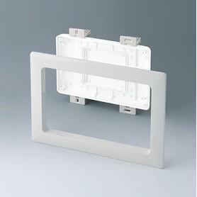 B4142587 / Kit de montaje para instalación S, Plano - ABS (UL 94 HB) - off-white RAL 9002 - 234x185mm