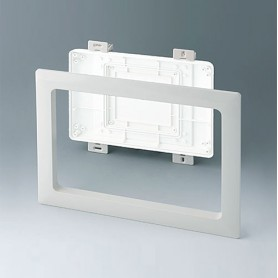 B4144587 / Kit de montaje para instalación M, Plano - ABS (UL 94 HB) - off-white RAL 9002 - 272x218mm