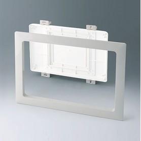 B4146587 / Kit de montaje para instalación L, Plano - ABS (UL 94 HB) - off-white RAL 9002 - 325x251mm