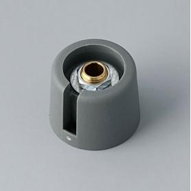 "A3020638 / COM-KNOBS 20 - Con orificio para elemento de marcaje ""Dial"" 20x16mm - PA 6 - volcano - Orificio eje 1/4″"