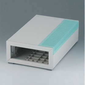 B2212005 / MEDITEC E 220, CAJA SIN ASA - ABS (UL 94 HB) - off-white RAL 9002 - 160x260x74mm - IP 40