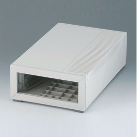 B2212007 / MEDITEC E 220, CAJA SIN ASA - ABS (UL 94 HB) - off-white RAL 9002 - 160x260x74mm - IP 40