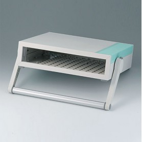 B2210105 / MEDITEC D 220, CAJA CON ASA - ABS (UL 94 HB) - off-white RAL 9002 - 290x260x74mm - IP 40