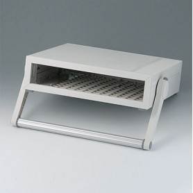 B2210107 / MEDITEC D 220, CAJA CON ASA - ABS (UL 94 HB) - off-white RAL 9002 - 290x260x74mm - IP 40