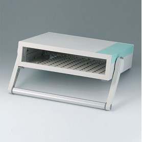 B2210115 / MEDITEC D 220, CAJA CON ASA - ABS (UL 94 HB) - off-white RAL 9002 - 290x260x74mm - IP 40