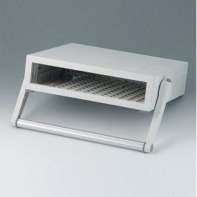 B2210117 / MEDITEC D 220, CAJA CON ASA - ABS (UL 94 HB) - off-white RAL 9002 - 290x260x74mm - IP 40