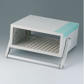 B2210315 / MEDITEC D 220, CAJA CON ASA - ABS (UL 94 HB) - off-white RAL 9002 - 290x260x124mm - IP 40