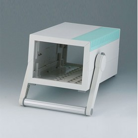 B2212305 / MEDITEC E 220, CAJA CON ASA - ABS (UL 94 HB) - off-white RAL 9002 - 160x260x124mm - IP 40