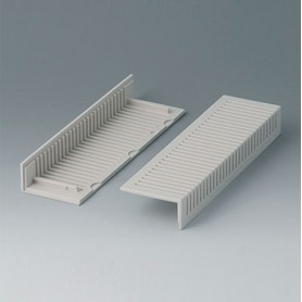 B2023007 / Cubiertas laterales 160, con ventilación - ABS (UL 94 HB) - off-white RAL 9002
