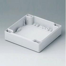 C0121202 / Carcasa 120, con lengüeta - PC (UL 94 HB) - light grey RAL 7035 - 120x120x30mm