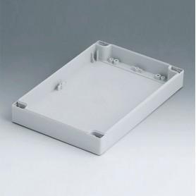 C0162402 / Carcasa 160, con lengüeta - PC (UL 94 HB) - light grey RAL 7035 - 240x160x30mm