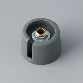 "A3023048 / COM-KNOBS 23 - Con orificio para elemento de marcaje ""Dial"" 23x16mm - PA 6 - volcano - Orificio eje 4 mm"